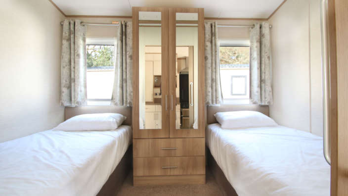 ABI Derwent Preowned holiday home twin bedroom