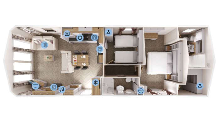 1 Willerby Sheraton Floor Plan