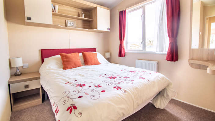 BK Caprice master bedroom with double bed