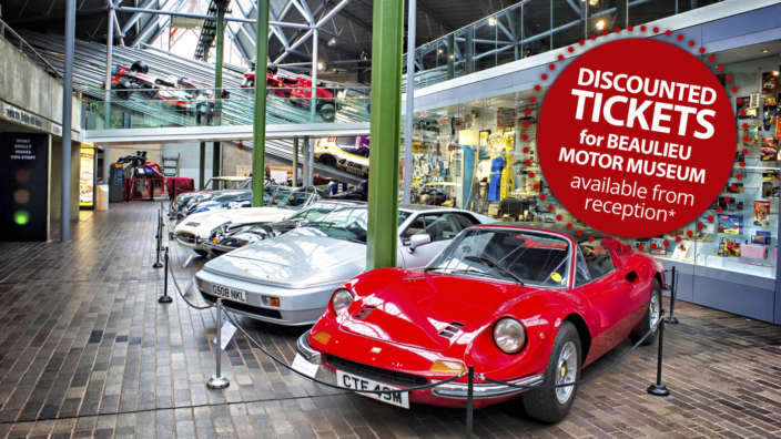 Discounted-tickets-for-Beaulieu-motor-museum-available-at-Shorefield-Holidays-park-receptions