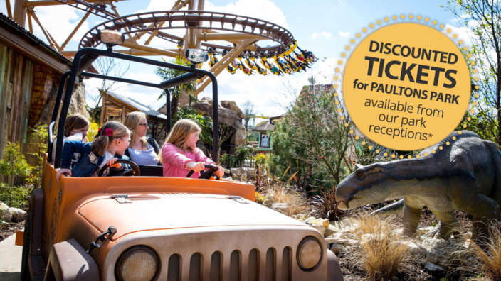 Discounted tickets for Paultons Park with Shorefield Holidays