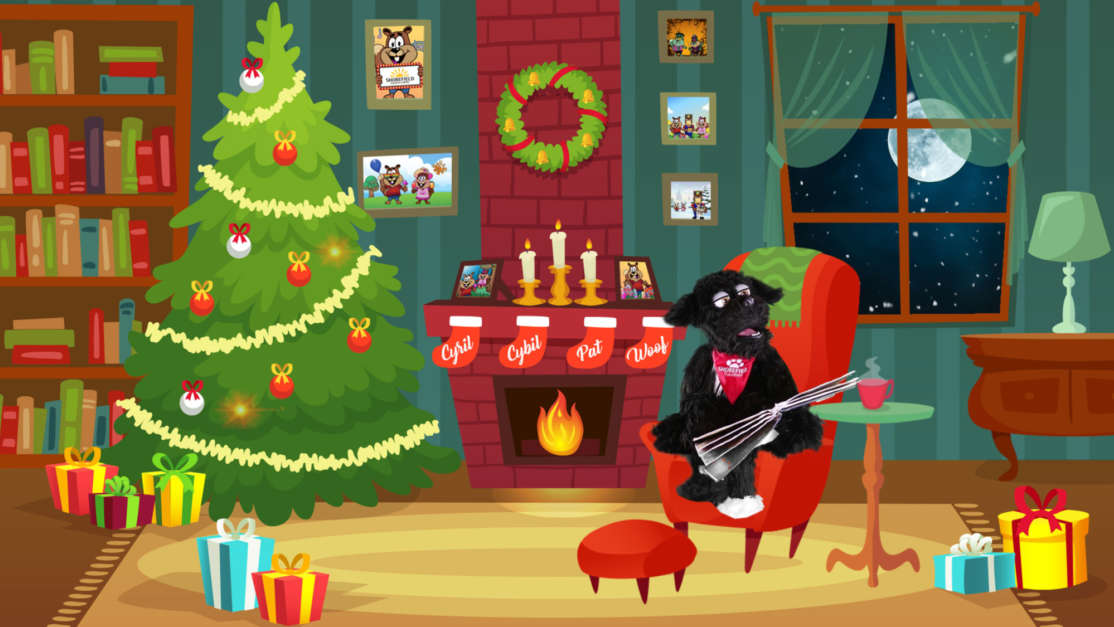 Night-Before-Christmas-Story-animation-with-Woof-the-dog