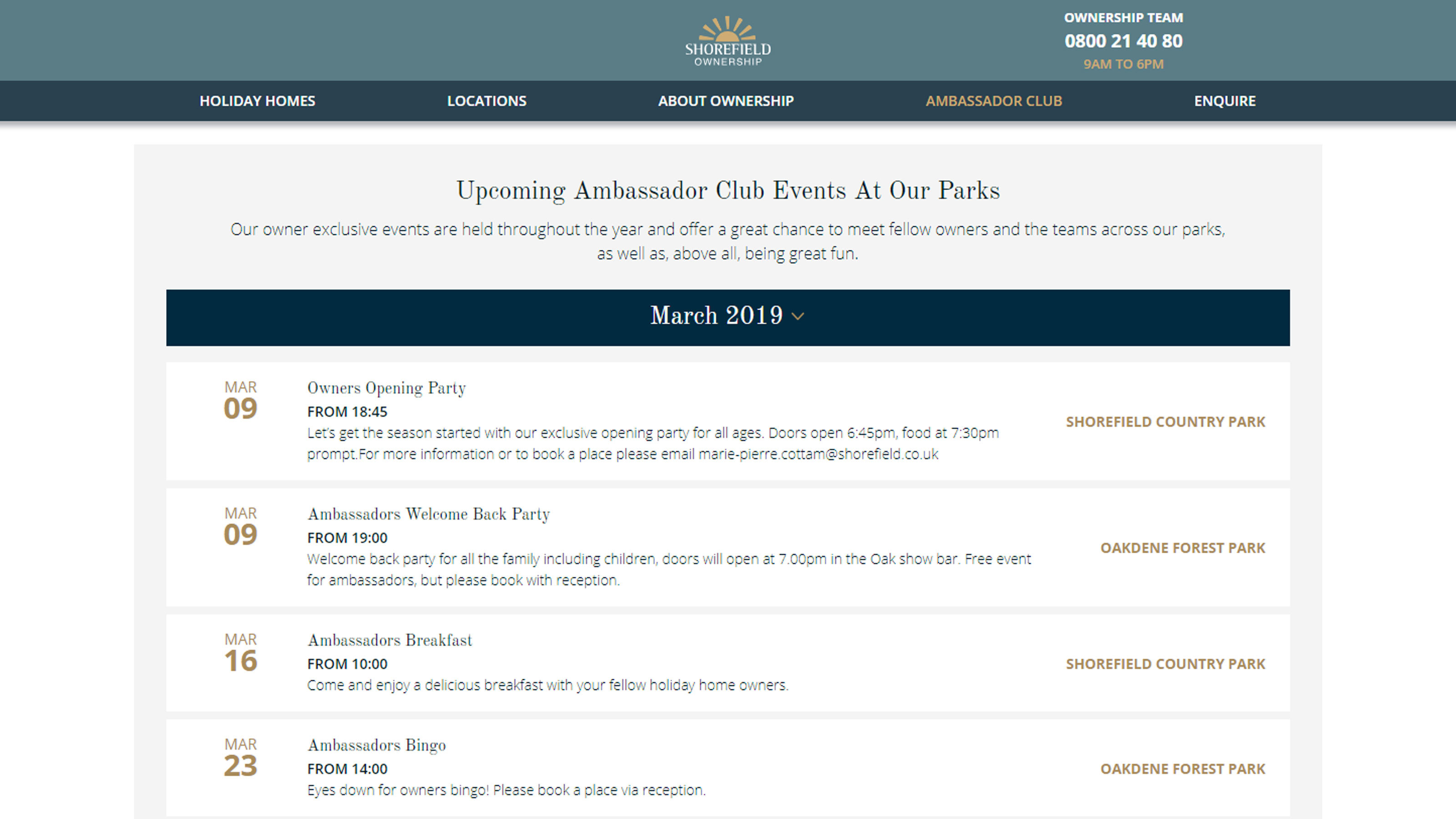 Owners-events-calendar