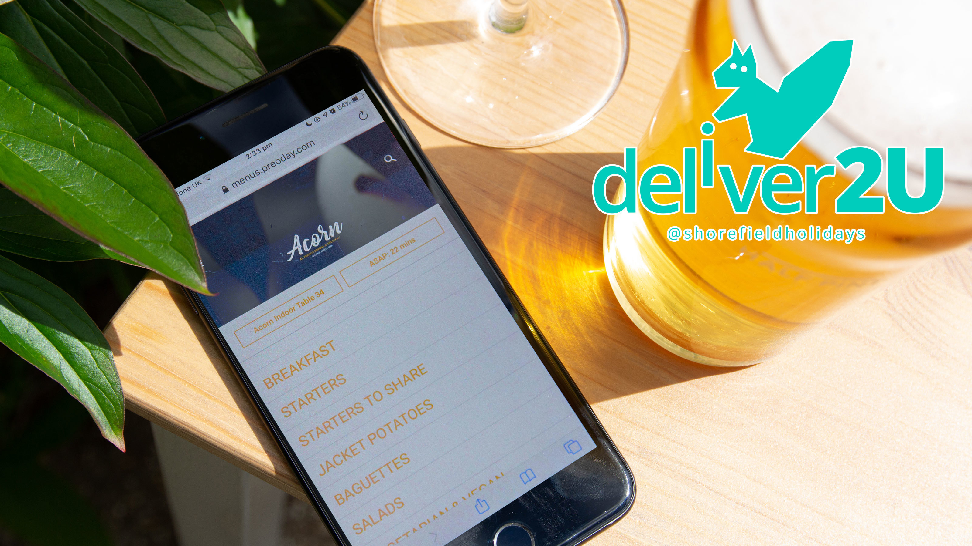 Deliver2U Food Ordering System coming to Shorefield Holiday Parks