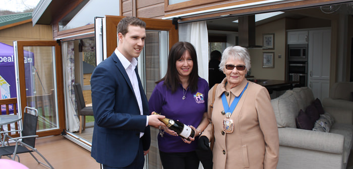 Mayor of Gosport at Hannah's holiday home appeal