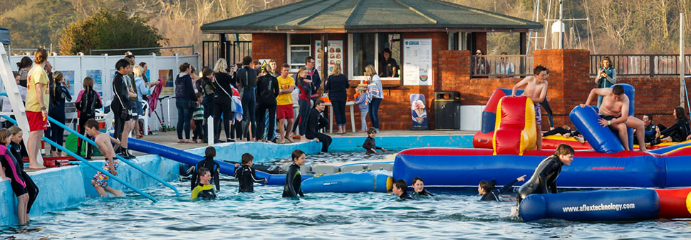 Inflatable course at Lymington Seawater baths