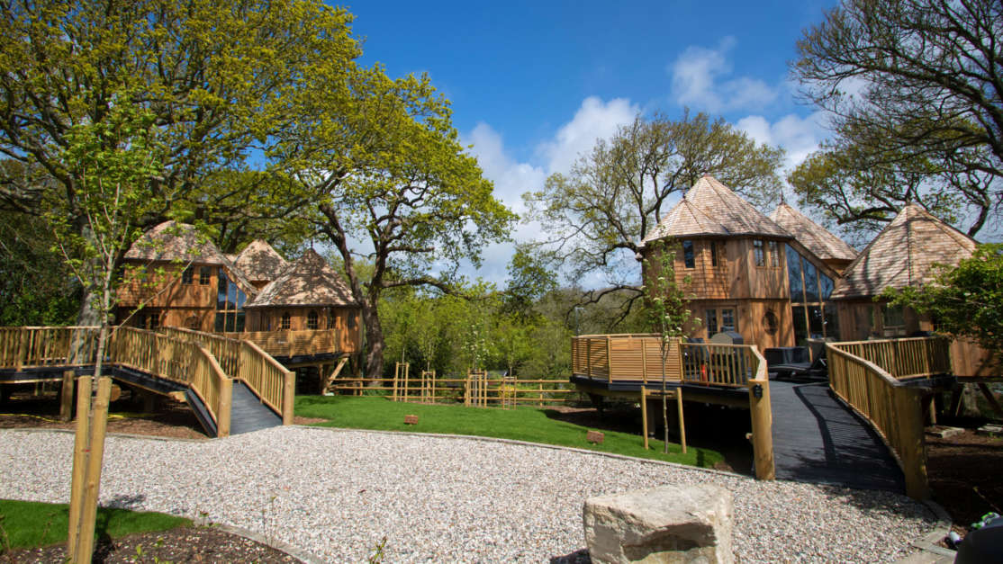 Two new luxury treehouses sleep six guests each at Shorefield Country Park
