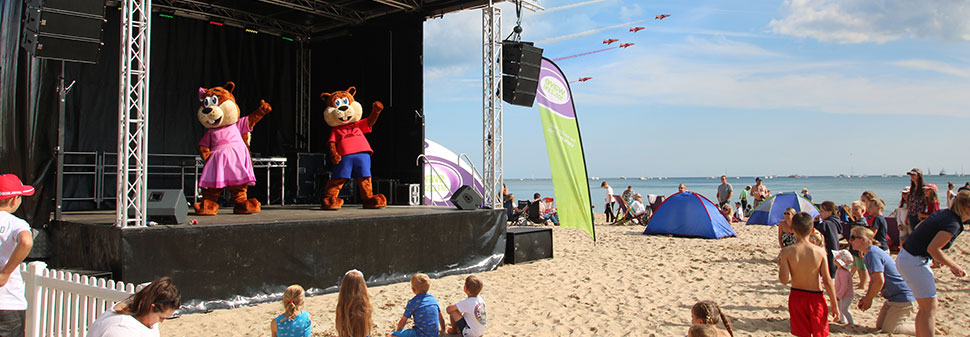 Shorefield stage at Bournemouth Air Show