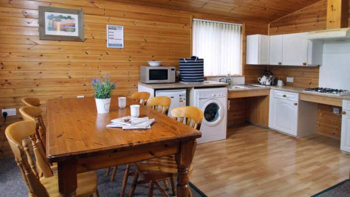 Accessible lodge kitchen and dining area