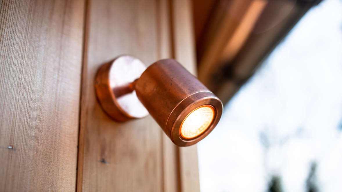 Copper accents in Coppertree House