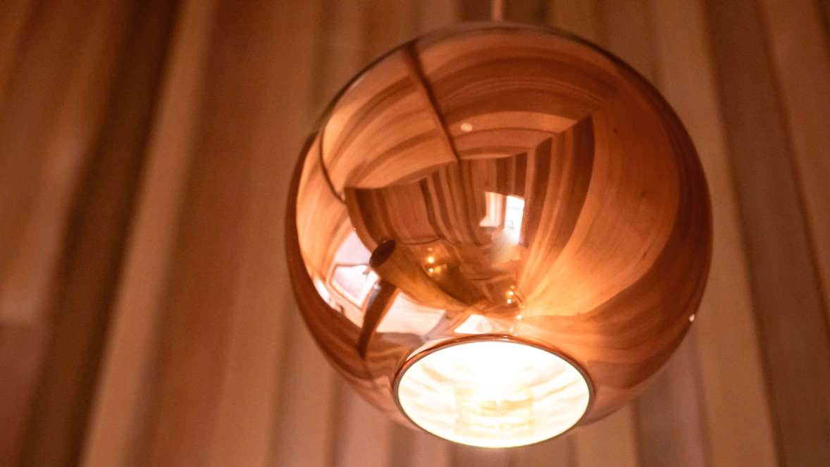 Copper lampshade in Coppertree House