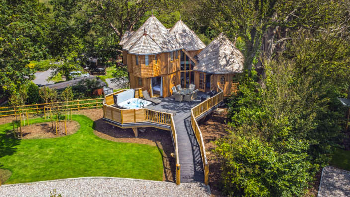 Aerial photo of Coppertree house