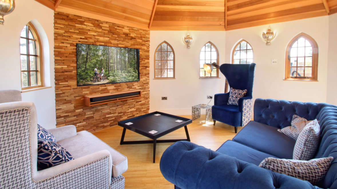 Treehouse interior Silvertree house in the New Forest with Shorefield Holidays
