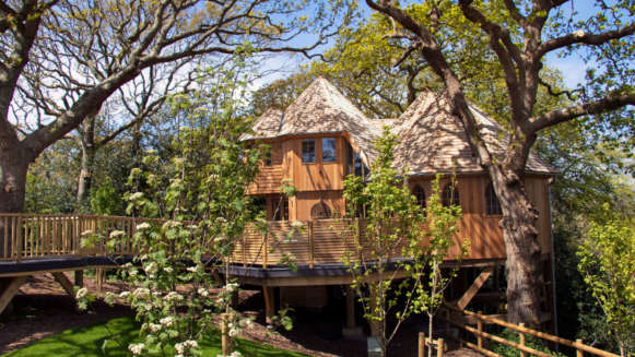 Silvertree house treehouse accommodation in the New Forest