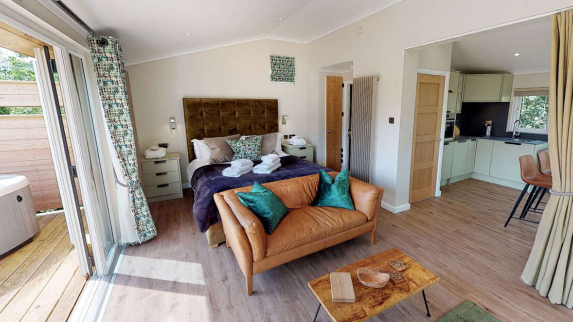 The shrubbery treehouse accommodation lounge bedroom