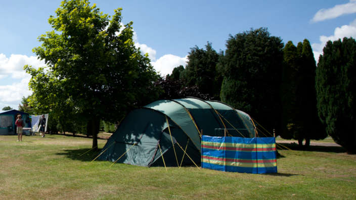 Tent In Summer On A Serviced Grass Pitch