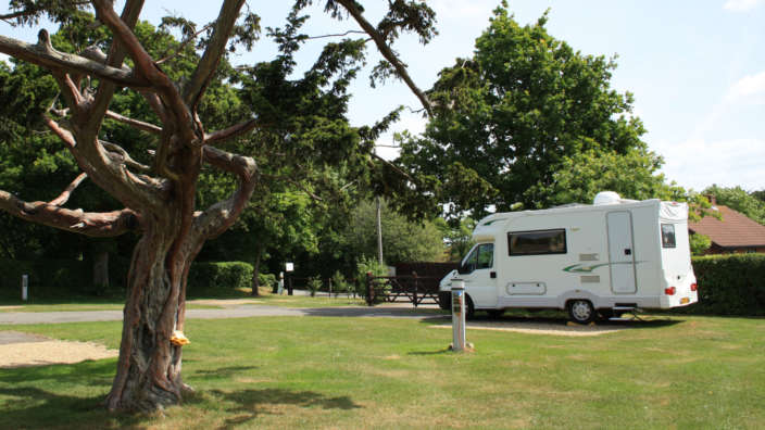 Premier And Executive Touring Pitches In A Scenic Park Setting
