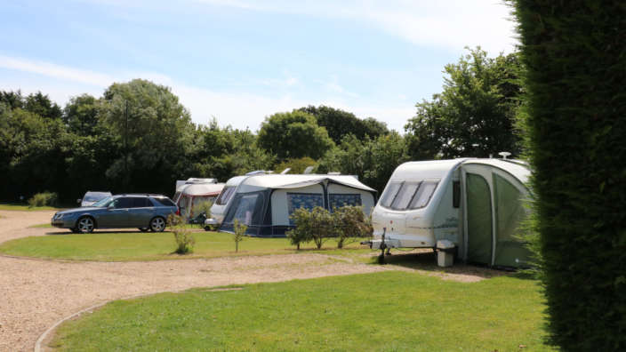 Touring Caravans On Secluded Premier And Executive Pitches At Lytton Lawn