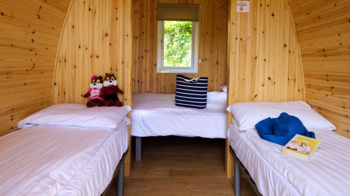 Glamping Pod Interior Beds