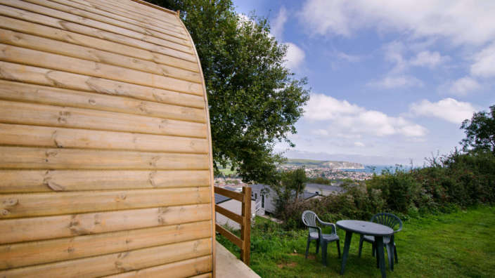 Views Across Swanage Bay From Our Glamping Pod