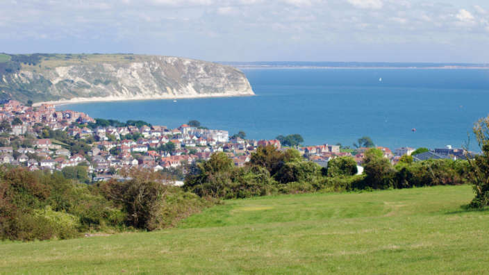 1 Stunning Views Across The Purbeck Coast From Our Grass Pitches At Swanage