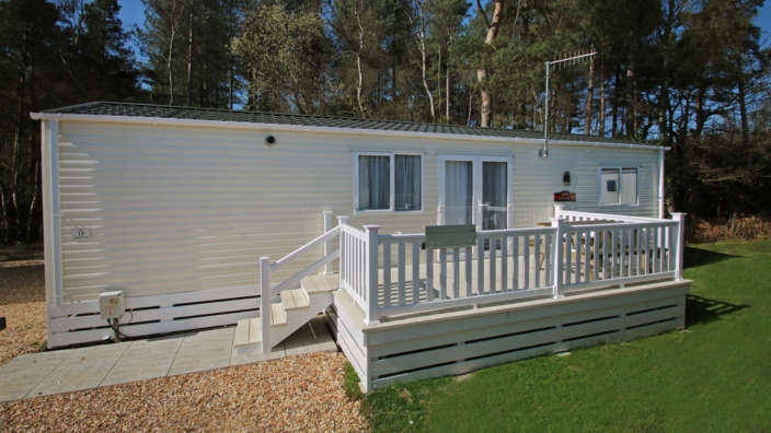 5 Exterior Of A Supreme Caravan Includes A Spacious Decked Area