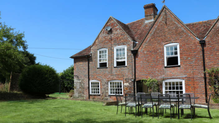 1 Exterior Of Tudor Rose House With Secluded Garden