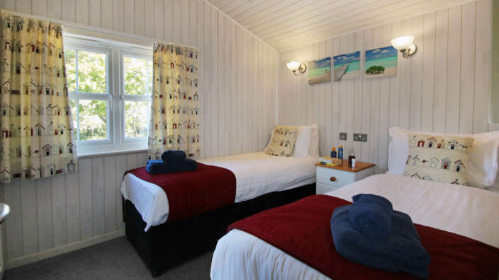 Spacious Bedroom With Two Signle Beds In Our Self Catering Lodges