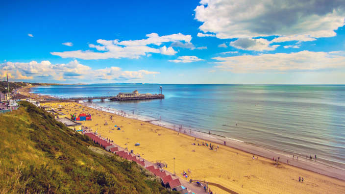 The Sandy Beaches Of Bournemouth