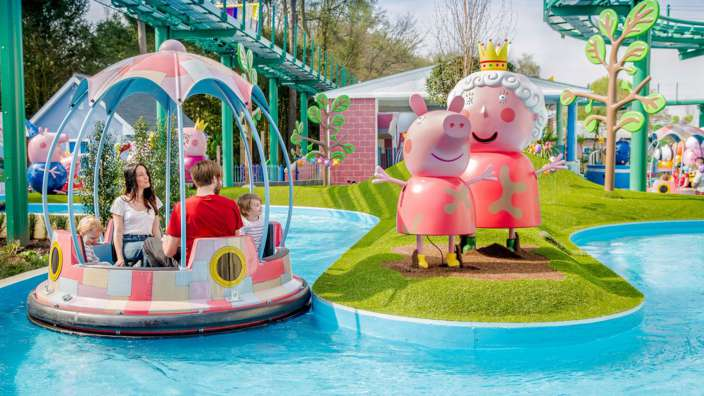 New Childrens Water Ride At Peppa Pig World