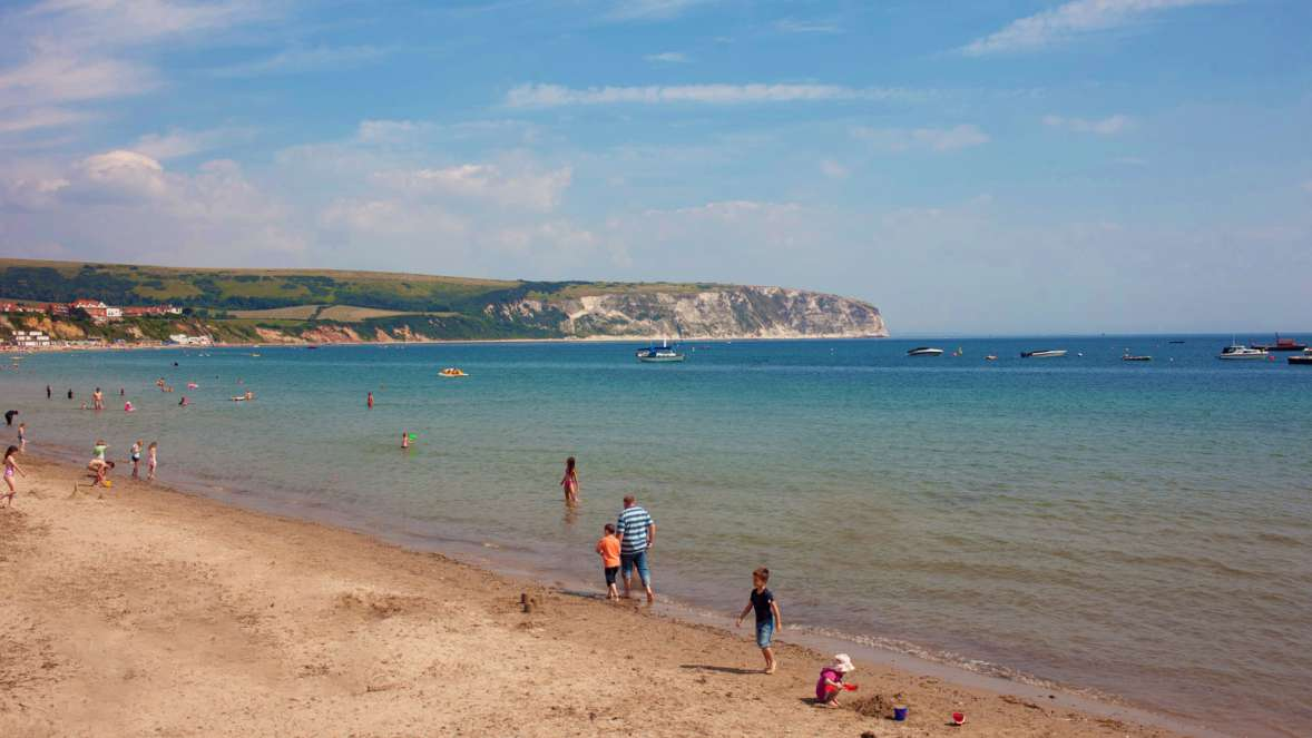 1 The Sandy Beach At Swanage Bay
