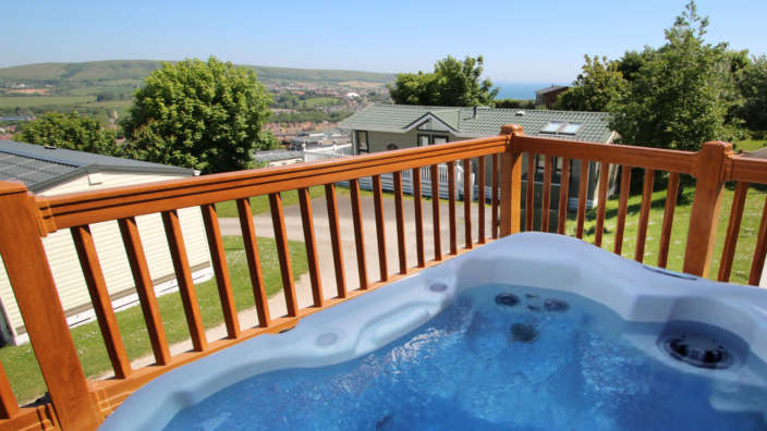 1 Stunning Views From Out Hot Tub Lodge At Swanage Coastal Park