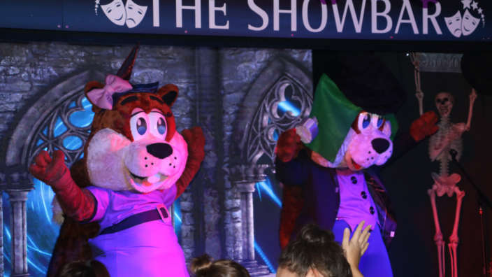 Halloween Cyril And Cybil On Stage