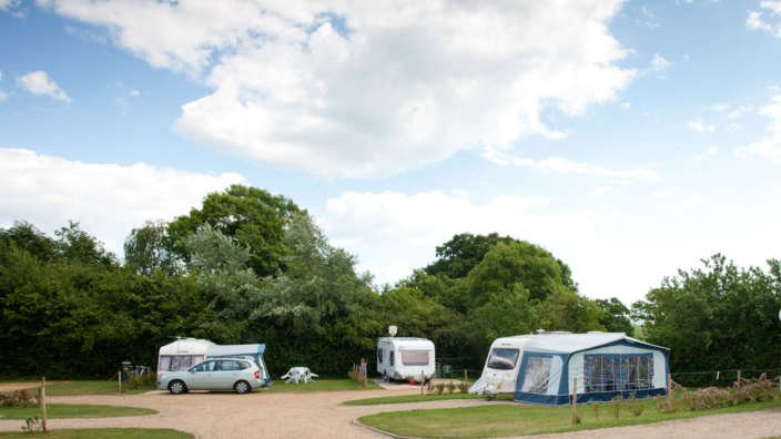 Touring Caravans Pitched