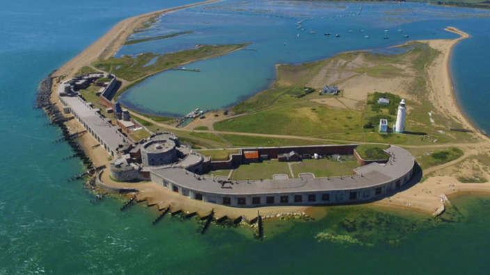1 Hurst Castle Aerial Sea Fortress