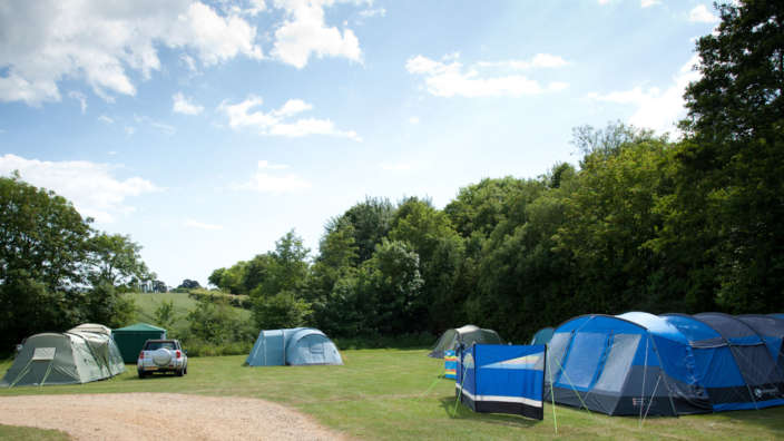 3 Tents Camping At Lytton Lawn Touring Park