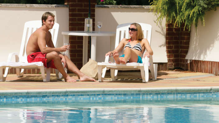 3 Heated Outdoor Pool Sunloungers Summer