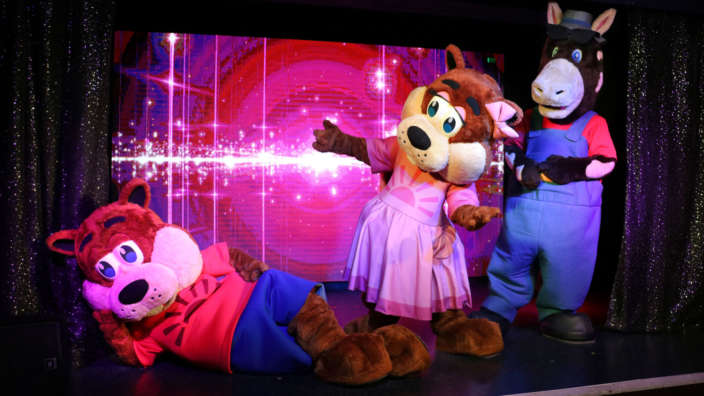2 Cyril Cybil And Pat Our Mascots Have Fun