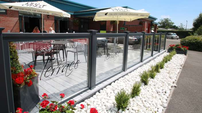 1 Outdoor Terrace Tables Parasols