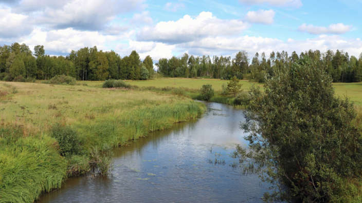 3 River Winding Through Countryside