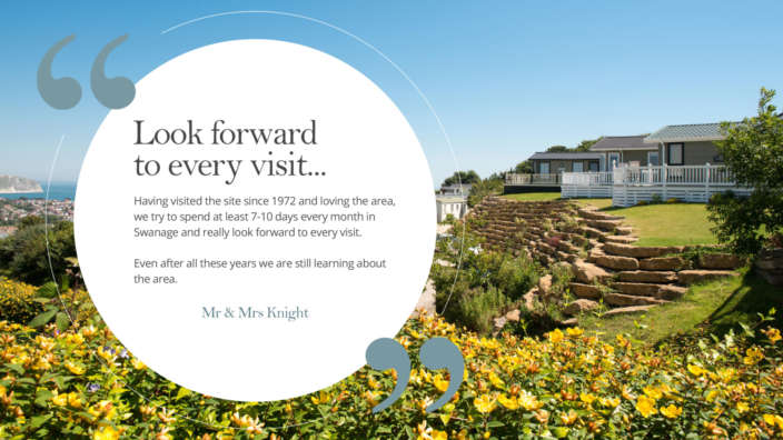 Look Forward To Every Visit Holiday Home Owner Quote Testimonial