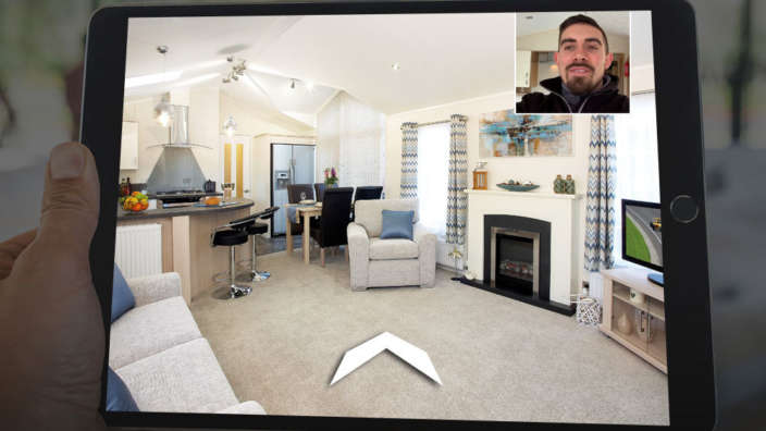 Ipad Holding Virtual Tour