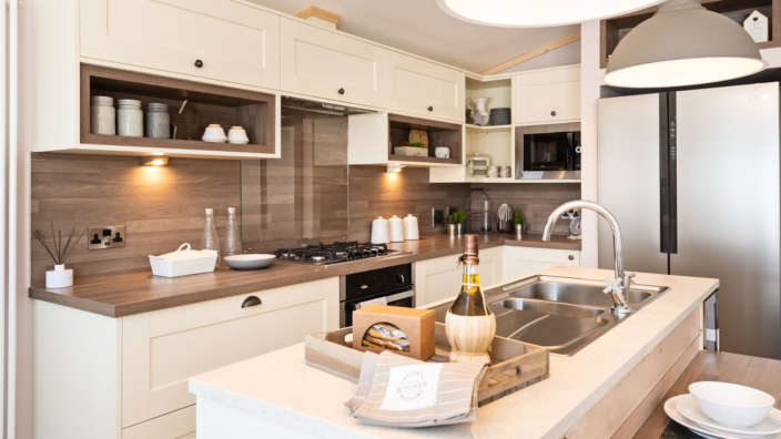 Holiday home interior kitchen