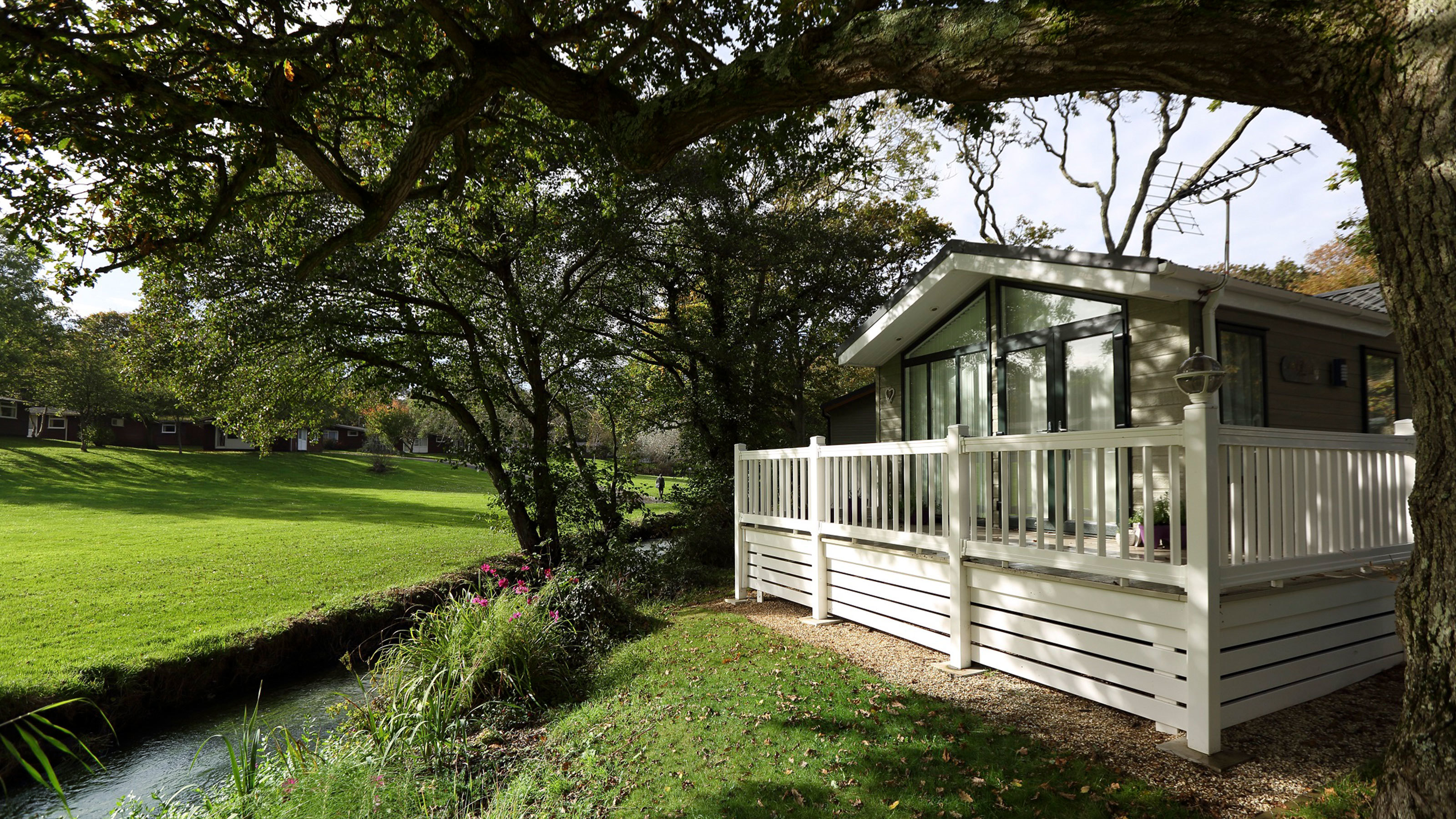 Woodland Holiday Home Luxury Lodge New Forest