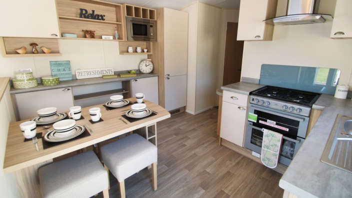 Swift Bordeaux Caravan Interior Kitchen