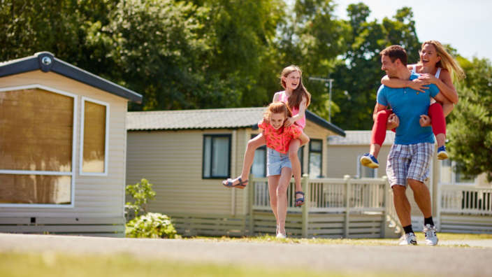 Family Laughing Holiday Park Ownership