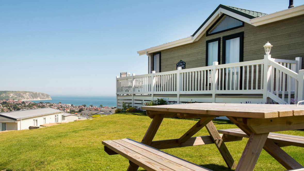 Swanage Holiday Home Overlooking Swanage Bay Sea View