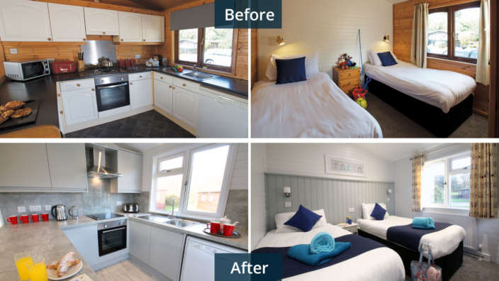 Shorefield Holidays lodge refurbushment project