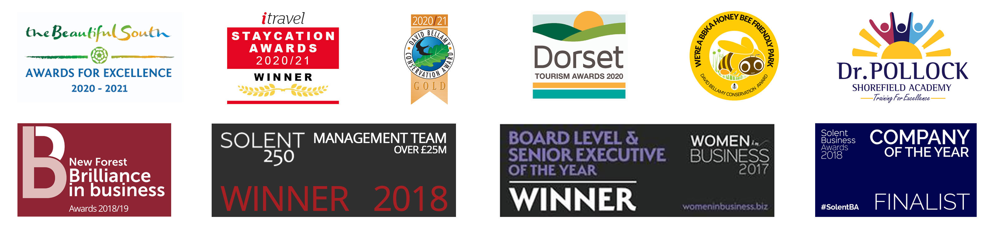 Just Some Of Our Awards
